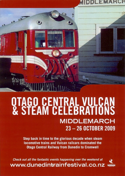 Otago Central Vulcan & Steam Celebrations poster