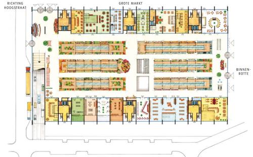 Rotterdam Market Hall market floor plan [archdaily.net]