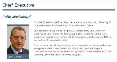 Colin MacDonald, DIA