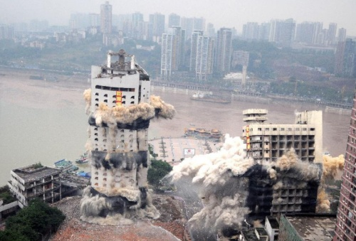 Chongqing, controlled demolition 30-8-12 (2)