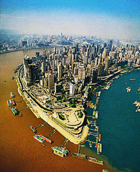 Chongqing, two rivers (1)