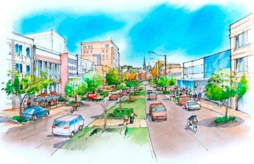 Proposed two-way Crawford St, Dunedin 1