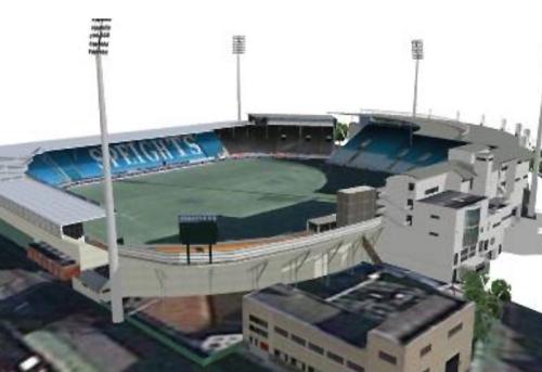 Carisbrook Stadium, model by totara (sketchup.google.com) 2