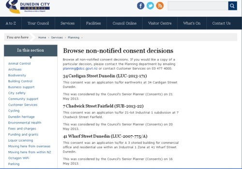 DCC Non-notfied Consents 23.5.13 (screenshot) 1