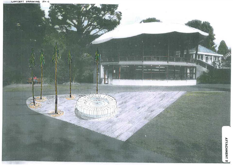 Proposed Griffith sculpture, Botanic Gardens