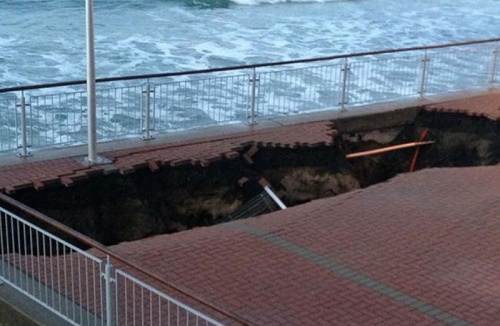 Sinkhole. Facebook, James Coombes 27.5.13 (3news.co.nz)