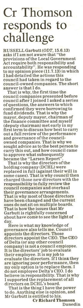 ODT Letter to editor 18.7.13 (page 12)