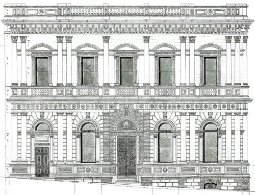 Old BNZ, Armson drawing no. 10 (Princes St facade) 2