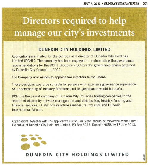 SST 7.7.13 DCHL advert for directors (page D7) 1