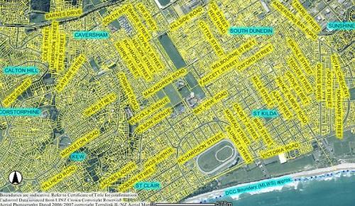South Dunedin 4a Dunedin webmap