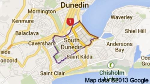South Dunedin map
