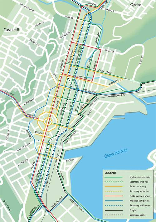 Figure 24. Draft Network Operating Plan for the central city