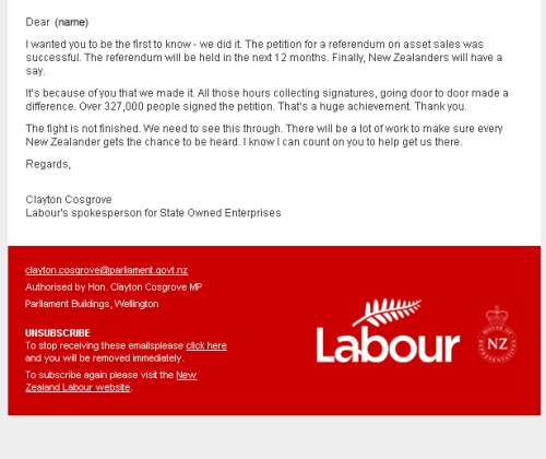 Labour email 2.9.13