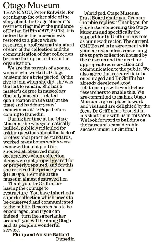 ODT 25.9.13 Letter to the editor (page 17)