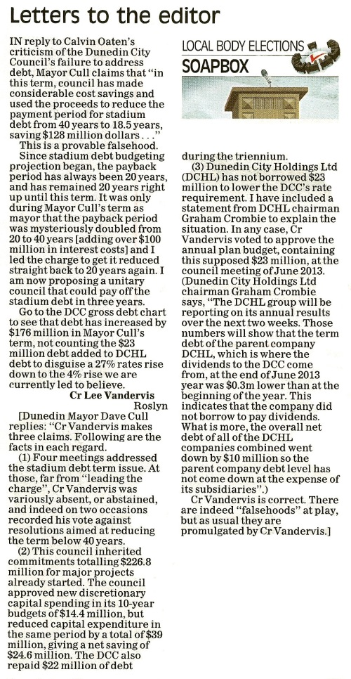 ODT 26.9.13 Letter to the editor (page 25)