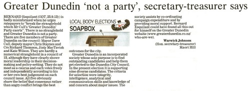 ODT 27.9.13 Letter to the editor (page 14)