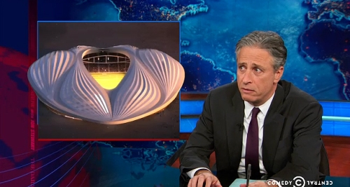 screen shot The Daily Show 1 (Hadid)