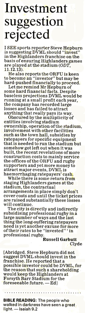 ODT 17.12.13 Letter to the editor (page 8)