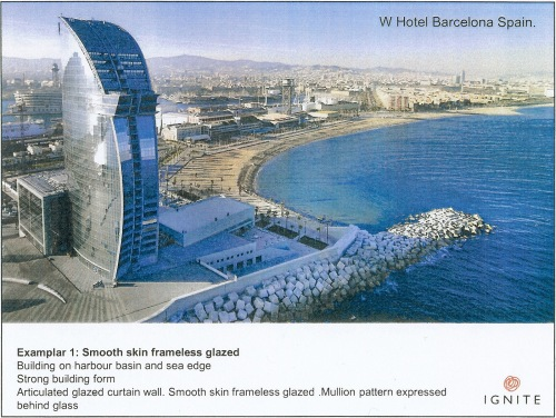 Exemplar 1 Smooth skin frameless glazed - W Hotel Barcelona Spain p3