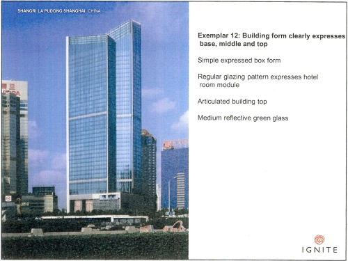 Exemplar 12 Building form clearly expresses base, middle and top - Shangri La Pudong Shanghai p18