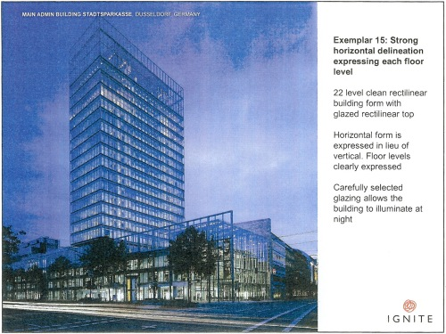 Exemplar 15 Strong horizontal delineation expressing each floor level - Main Admin Building Stadtsparkasse, Dusseldorf p21