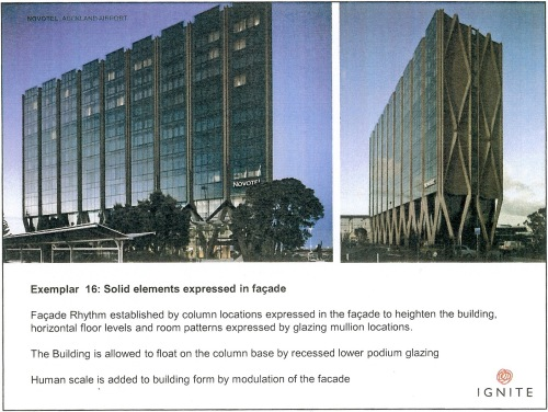 Exemplar 16 Solid elements expressed in facade - Novotel Auckland Airport p22