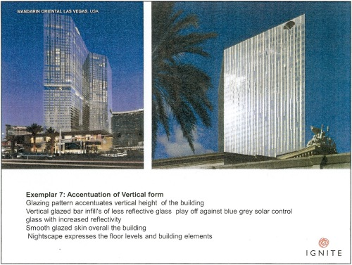 Exemplar 7 Accentuation of vertical form - Mandarin Oriental Las Vegas p11