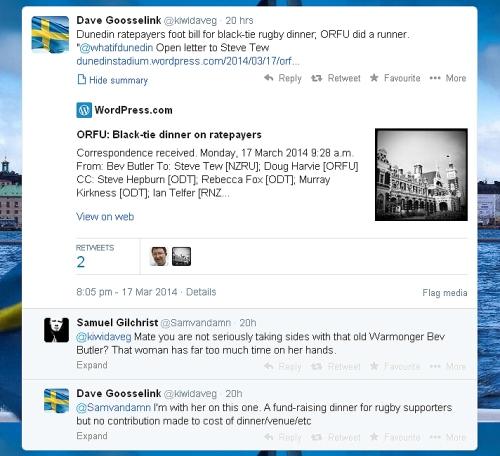 Dave Goosselink Tweets 17.3.14