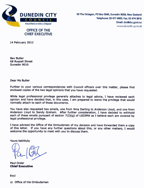 DCC Letter to BButler 14.2.12