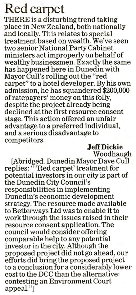 ODT 28.5.14 Letter to the editor Dickie (page 14)