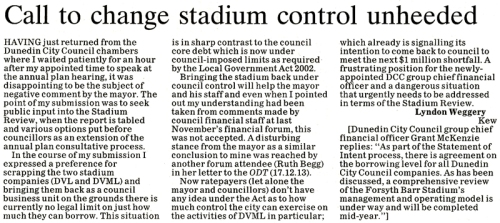ODT 28.5.14 Letter to the editor Weggery (page 14) 1