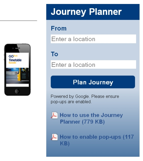 ORC Journey Planner (buses)