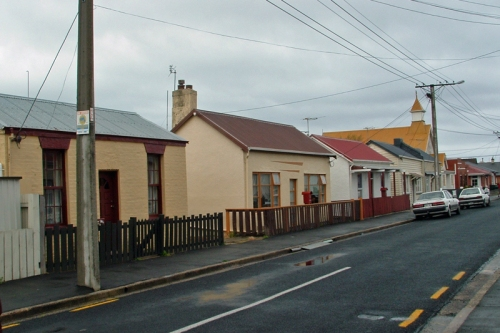 South Dunedin. Fingall St, 60 to 66. (Photo by Stewart Harvey) (1a)