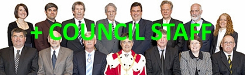 DCC mayor and councillors (2013-14) + council staff
