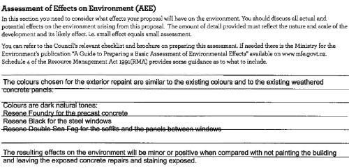 John Wickliffe House - 'Assessment of effects' Baker Garden Architects