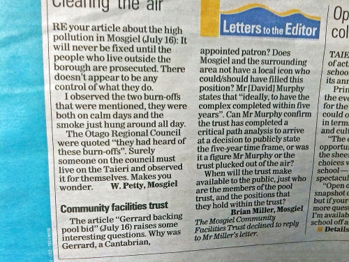 Taieri Times 23.7.14 Letter to the editor Miller p2