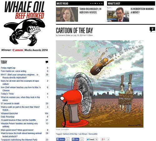 whaleoil 18.7.14 - len brown cartoon by SonovaMin (1)