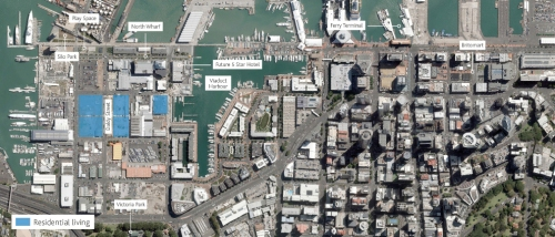 Wynyard Quarter residential map [Image - Waterfront Auckland]
