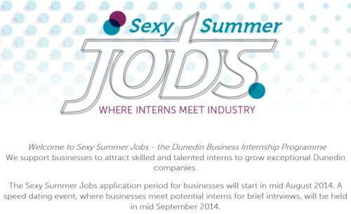 Dunedin - sexy summer jobs