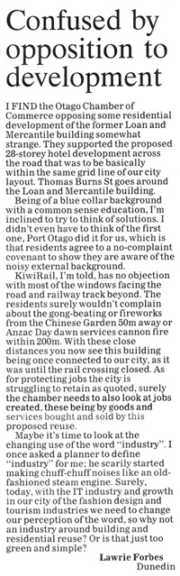 ODT 13.8.14 Letters to the editor Forbes p14 (2)