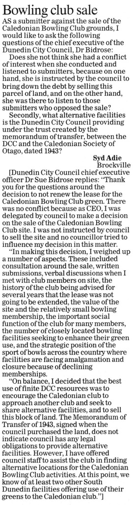ODT 6.8.14 Letters to the editor Adie p25