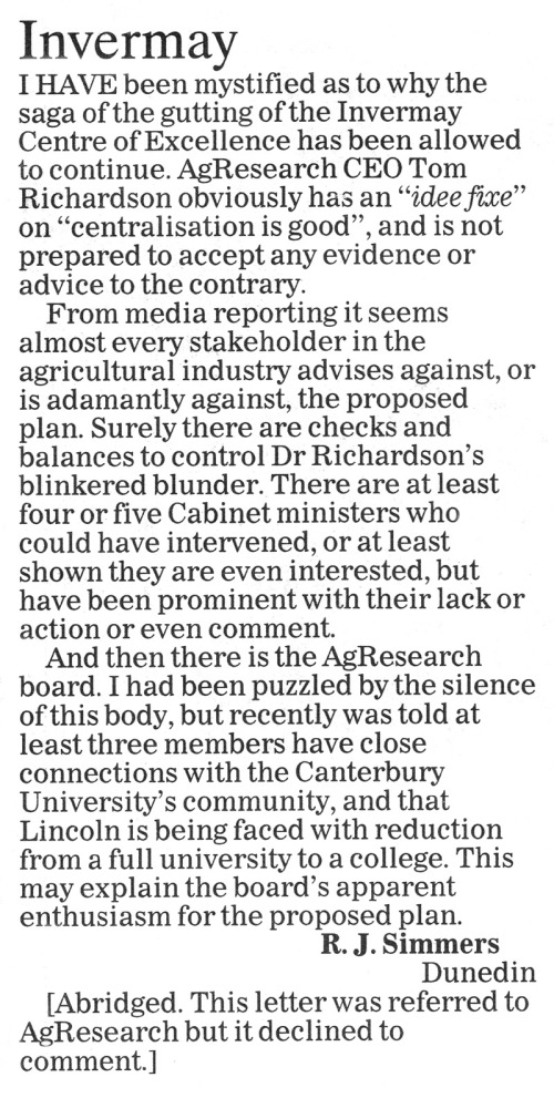 ODT 6.8.14 Letters to the editor Simmers p25