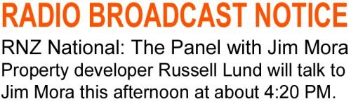 Radio Interview, Jim Mora RNZ National 11.8.14