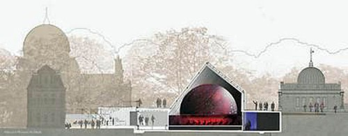 Side-section of new Peter Harrison Planetarium, Greenwich [britsattheirbest.com]