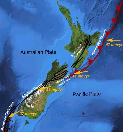 Earthquake proneness - NZ_faults [wikimedia.org]