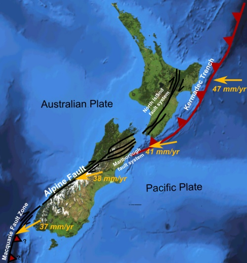 Earthquake proneness - NZ_faults [wikimedia.org]