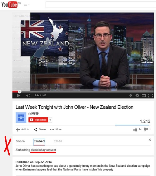 John Oliver on NZ Election 1b