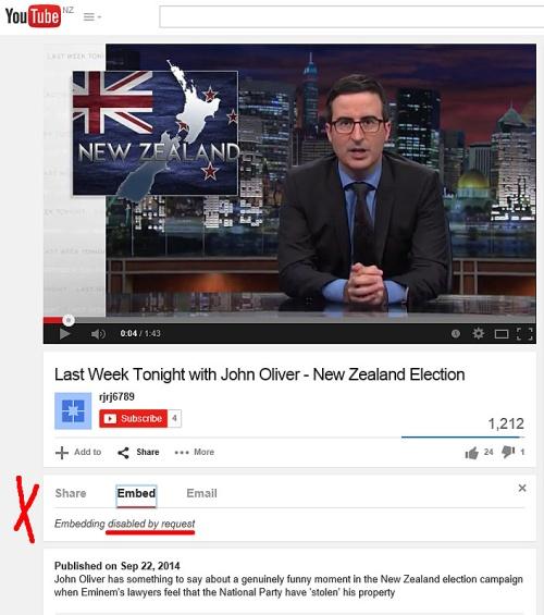 John Oliver on NZ Election 1b