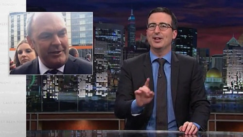 John Oliver on NZ Election (Steven Joyce, National Party campaign manager)