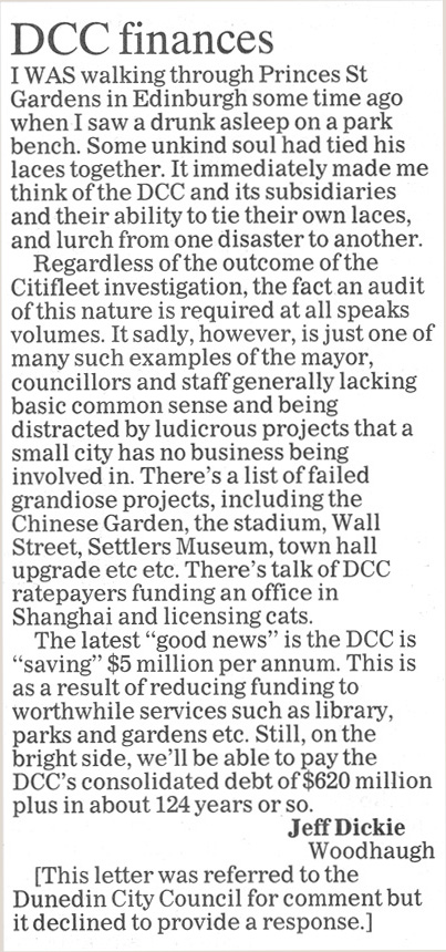 ODT 13.10.14 Letter to the editor Dickie p6 (1)